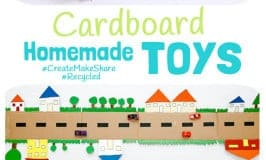 Inspire creativity and imaginative play with homemade toys made from recycled materials like these awesome Cardboard Homemade Toys! Kids will love to play with something they've helped to make and it's great for building their environmental awareness too.