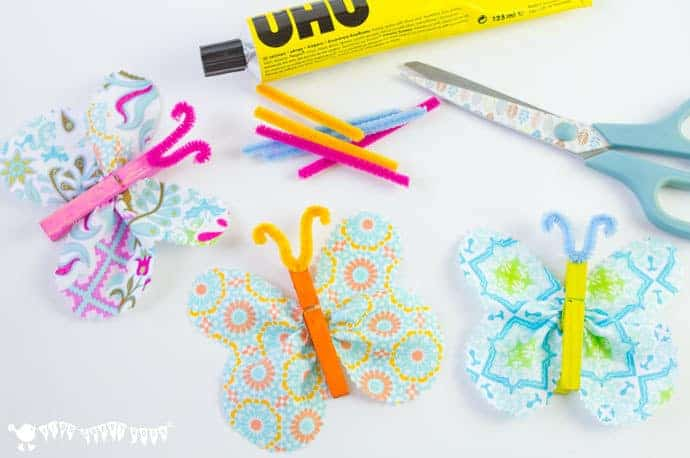 Constructing-fabric-clothespin-butterfly-crafts