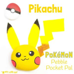 Pikachu Craft – Pebble Pokémon DIY