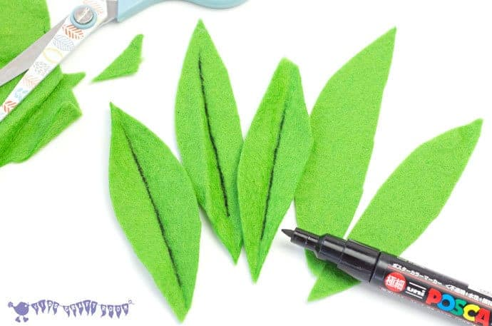 Cutting-Felt-For-Oddish-Craft-Pokemon-DIY-Pebble-Pocket-Pal