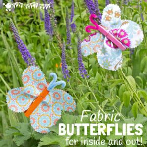 Fabric Clothespin Butterfly Craft