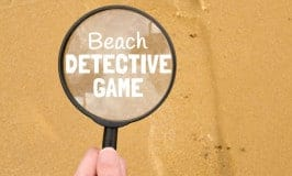 Do your kids enjoy mysteries? Are they super inquisitive? Test your kids observation and descriptive skills and spark their imaginations with this fun Footprint Trail BEACH DETECTIVE GAME for budding super sleuths!