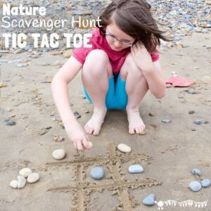 Nature Scavenger Hunt Tic Tac Toe