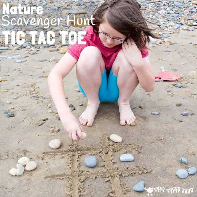 This fun NATURE SCAVENGER HUNT TIC TAC TOE game has a clever twist that keeps your kids engaged for longer and gets them learning about the natural world around them time and time again!