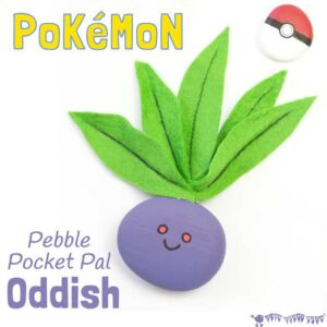 Oddish Craft – Pebble Pokémon DIY