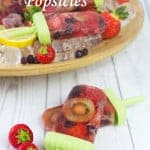 Yummy! These adult only boozy Pimm's Popsicles are fruit packed, look amazing and are totally delicious! They're perfect for a Summer treat and for sharing with friends.