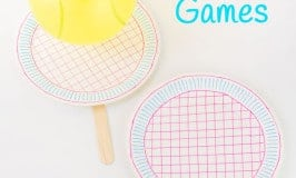 10 Fun Gross Motor Balloon Tennis Games for the whole family. They're excellent boredom busters & energy busters and great fun whatever the weather.