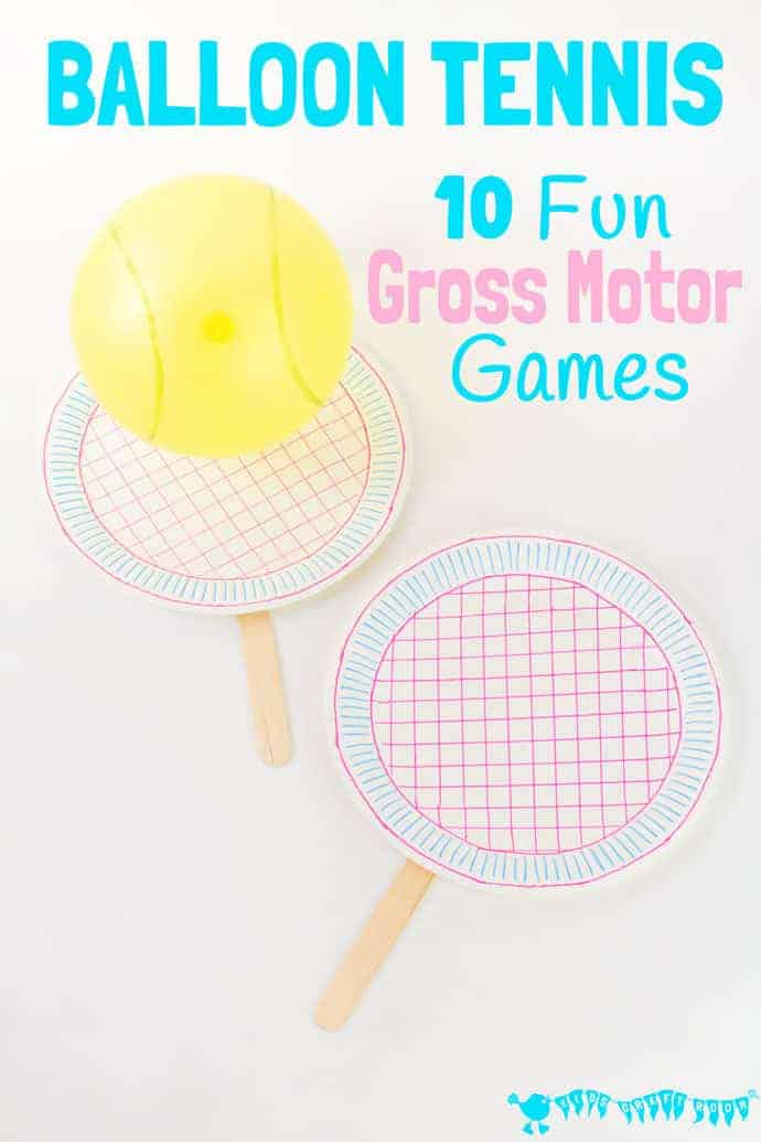 10 FUN GROSS MOTOR BALLOON TENNIS GAMES to enjoy whatever the weather! Build gross motor skills, get active and let off steam. Indoor games for kids they'll enjoy again and again. Play ideas for the whole family. #kidscraftroom #games #familygames #kidsgames #balloons #balloongames #play #playideas #tennis #grossmotor #motorskills #grossmotorskills #kidsactivities #kidsgames #boredombusters