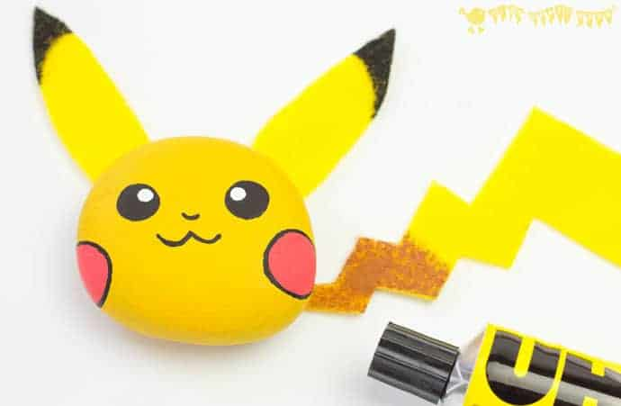 We love this easy and cute Pikachu Craft - a Pokémon pebble craft that's the perfect pocket pal you can actually play with! This fun Pebble Pikachu is a great Pokemon DIY for Pokemon Go fans...gotta catch 'em all! Lot's more coming soon...