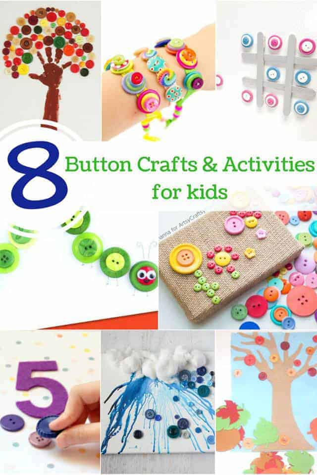 8 Beautiful Button Crafts And Activities For Kids