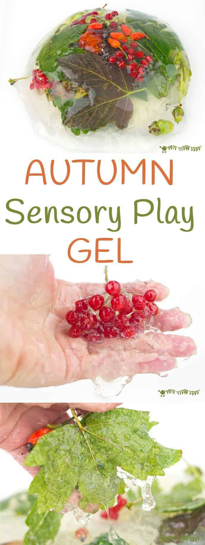 Autumn Sensory Play Gel is an irresistible hands-on play idea bringing the wonders of Nature into a squishy, squashy textural delight kids LOVE to explore.