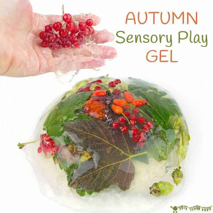 Autumn Sensory Play Gel is an irresistible hands-on play idea bringing the wonders of Nature into a squishy, squashy textural delight kids LOVE to explore. Sensory play at its best!