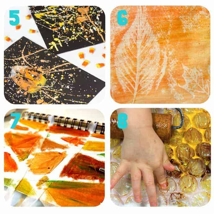 Collage-2-Fall Art Projects For Kids You Must Try! Here are 20 exciting Fall art ideas that explore Autumn colours in new and exciting ways. You'll never look at red, orange and yellow paint in the same way again! Fall Painting ideas made fun!