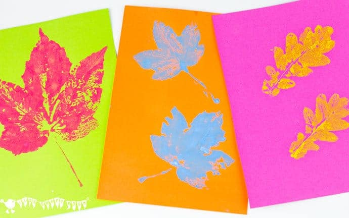 pop art leaf printing kids will love making vibrant leaf art with this printing technique