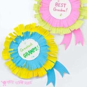 Grandparents Day Craft- Paper Plate Rosettes