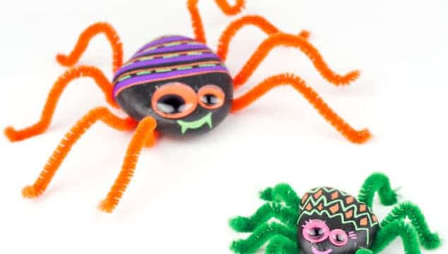 Playful Rock Spider Craft