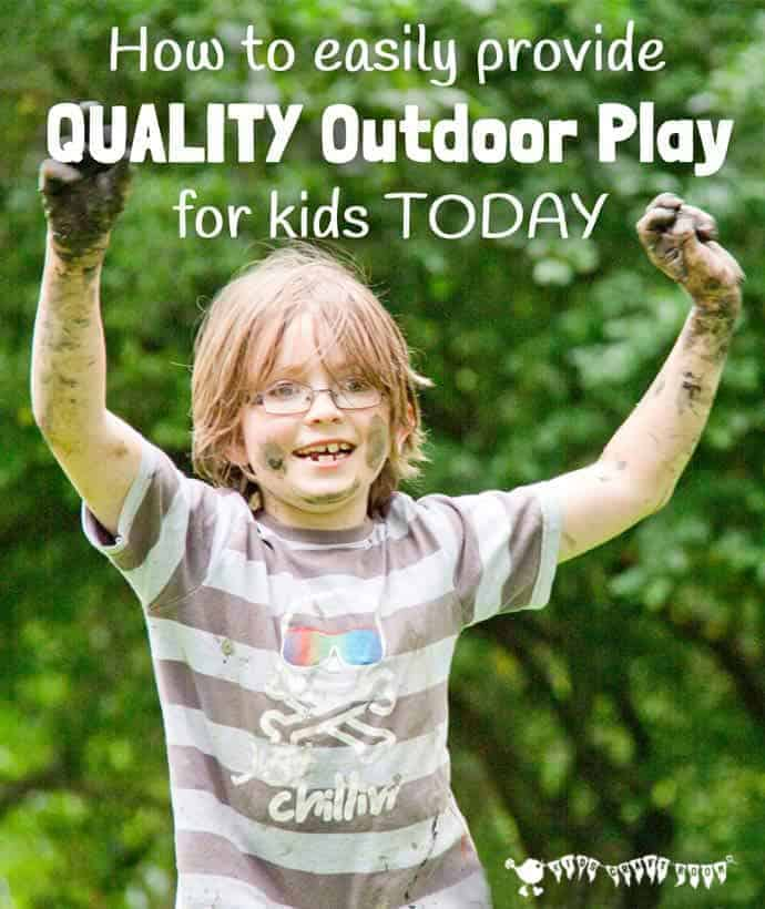 QUALITY OUTDOOR PLAY IDEAS We all know that kids benefit from fresh air and the freedom that outdoor play gives them but how do we use outdoor play to develop more than just their physical skills? Here are 5 easy ideas you can implement today to provide QUALITY outdoor activities for kids to promote all areas of development and learning.