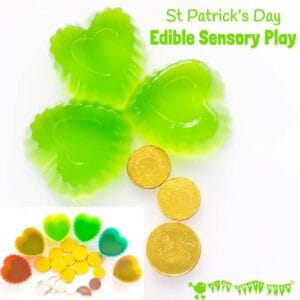 Edible Sensory Play For St Patrick's Day