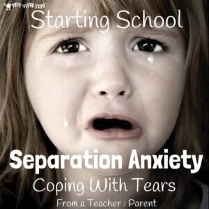 Lots of children get separation anxiety when starting school As a teacher and a parent I discuss ways to cope with your child's tears and best support their needs at these difficult times.