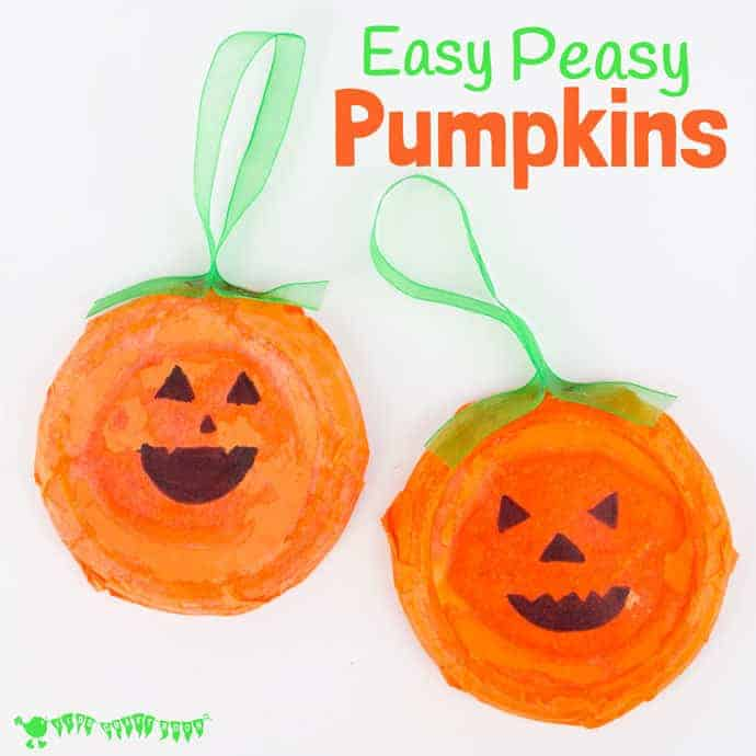 This Pumpkin Craft is perfect for toddlers and preschoolers. Kids will love decorating their homemade pumpkins with fun cheeky faces. This characterful pumpkin craft makes great Halloween decorations and looks fabulous in the window as Halloween Suncatchers. Such fun!
