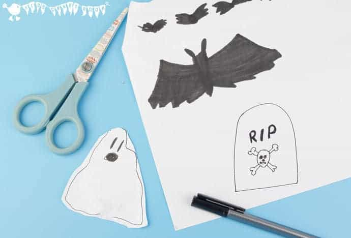 Halloween-Pop-Up-STEAM-Project-step-4- HALLOWEEN POP-UP STEAM PROJECT - Kids of all ages will love this spooky pop-up STEAM challenge and you can easily adapt it to any theme throughout the year too.
