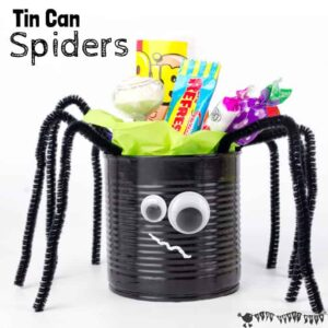Tin Can Spider Craft