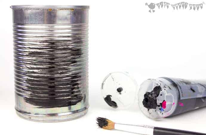 Tin Can Spider Craft step-1