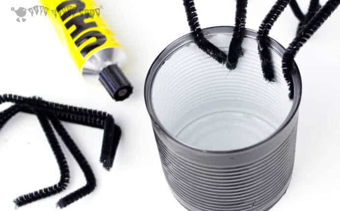 Tin Can Spider Craft step-2