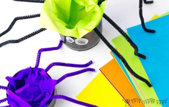 Tin Can Spider Craft step-4