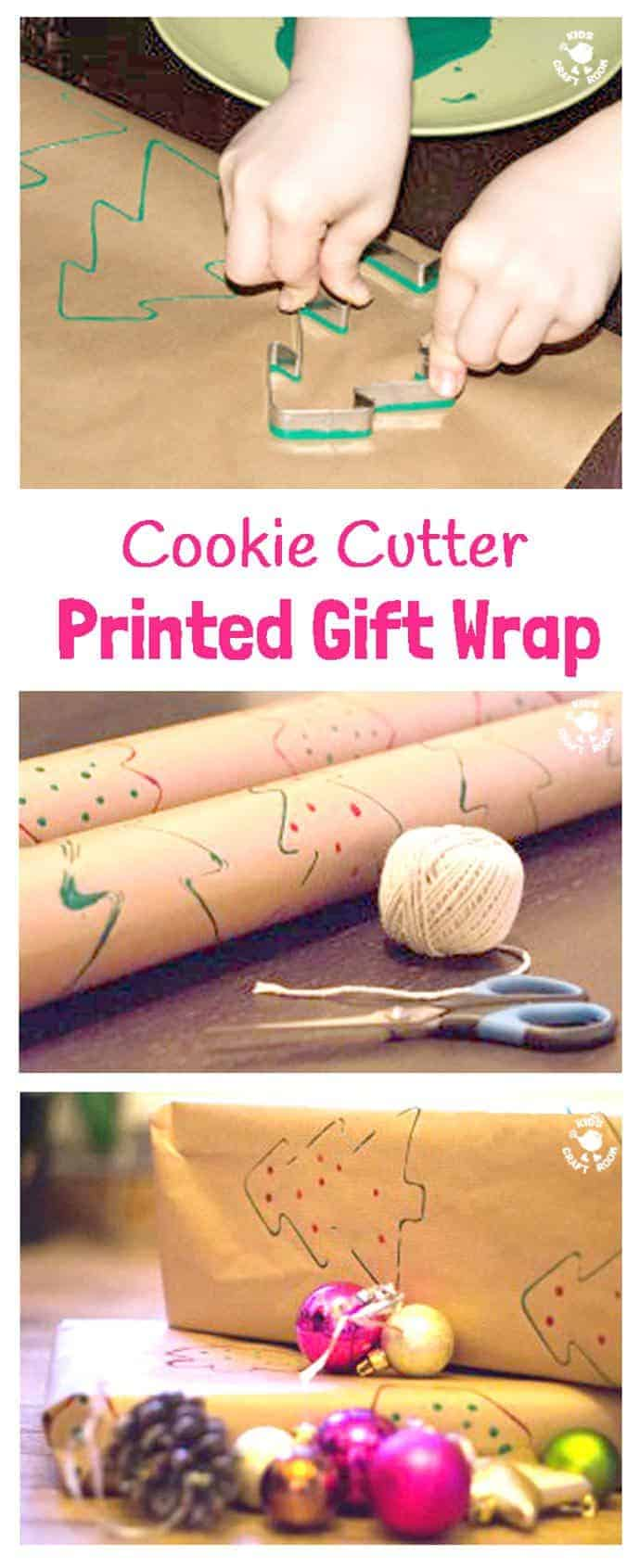 Cookie Cutter Printed Gift Wrap Kids Craft Room