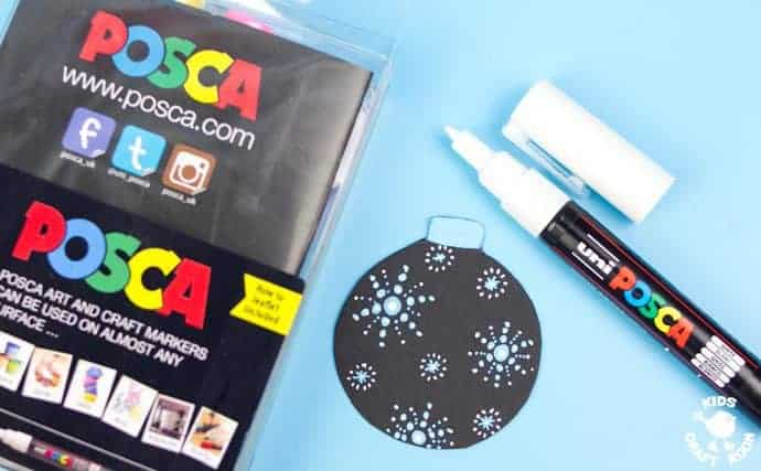 Decorating-Homemade-Baubles-With-Posca-Pens