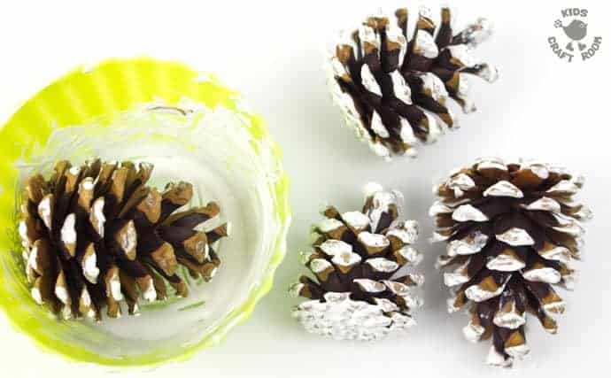 Frosty Pinecone Craft Step 2