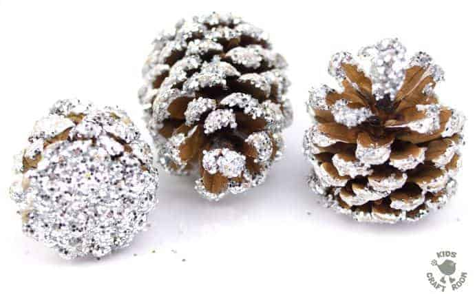 Frosty Pinecone Craft Step 5