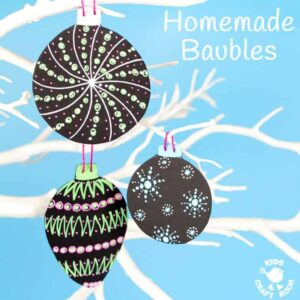 Homemade Baubles – Posca Pen Craft and Giveaway
