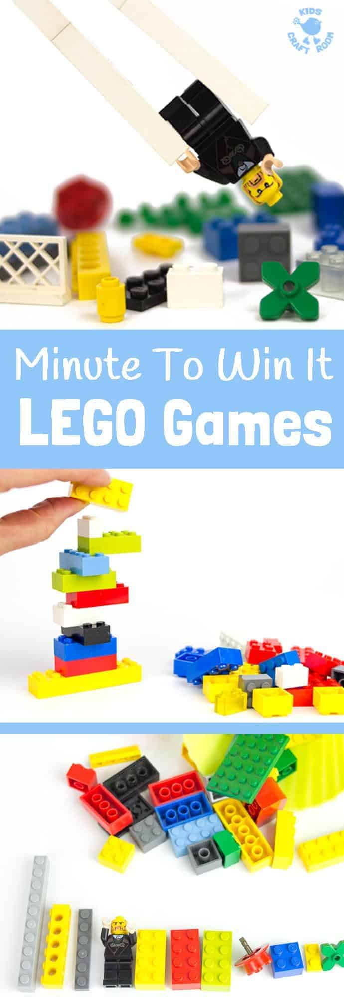 Exciting Minute To Win It Games with LEGO© are fun for all ages making them great for family games nights, kids play dates, Christmas, birthdays and New Year's Eve. Challenge your friends and family with these fun game ideas. A family activity everyone with enjoy. #MinuteToWinIt #MinuteToWinItGames #Games #GamesIdeas #FamilyGames #GamesNight #FamilyGamesNight #KidsGames #KidsActivities #Lego #LegoIdeas #LegoGames #NewYear'sEve #NewYear'sEveIdeas #Party #PartyGames #PartyIdeas