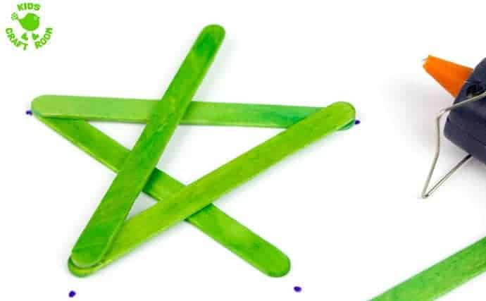How to make a popsicle stick star step 4