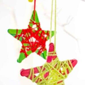 Yarn Wrapped Star Ornaments