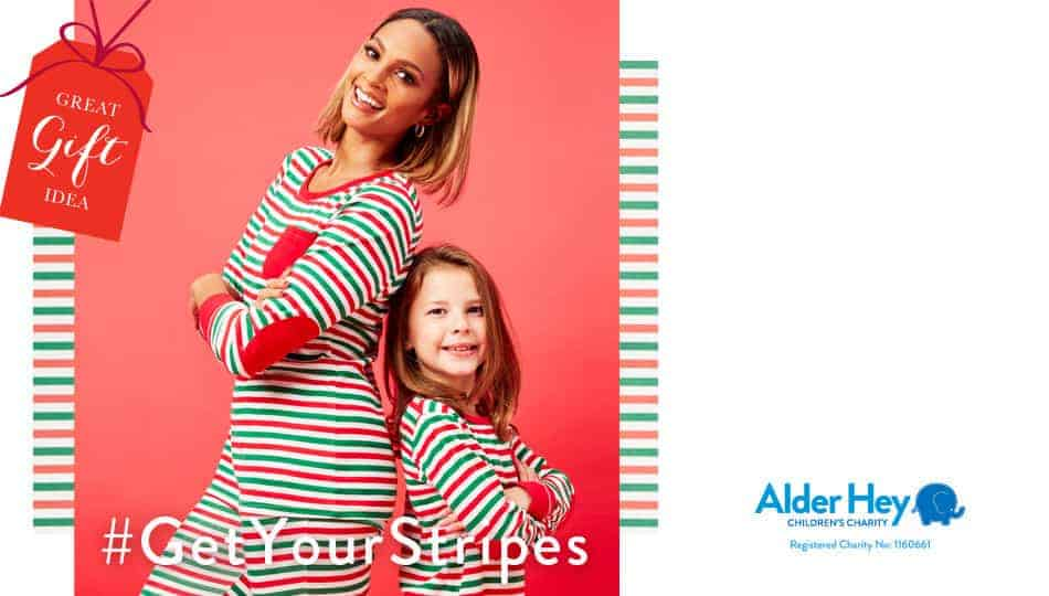 It's easy to get involved in the #GetYourStripes campaign and do something fantastic for a good cause. Nip along to Matalan and treat yourself and the family to their official and super cute red, green and white Alder Hey stripy PJ's and accessories.