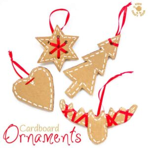 These pretty DIY cardboard ornaments will make your Christmas tree and home gorgeous this Winter. A simple recycled Christmas craft for kids and adults.