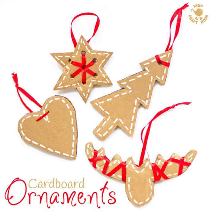 Pretty Cardboard Ornaments Kids Craft Room