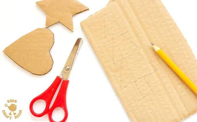 Cardboard-Christmas-Ornaments-step-1