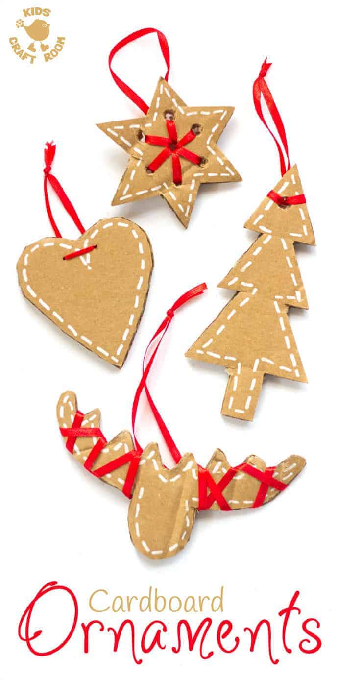 pretty cardboard ornaments kids craft room