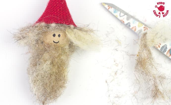 Rustic Christmas Gnomes Ornaments step 10