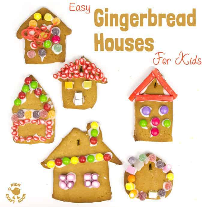 This easy gingerbread house recipe is great fun for the whole family. Forget the frustrations of 3D houses that fall down and make pretty 2D gingerbread houses instead. Just as pretty and delicious but without all the hassle! These cute gingerbread houses can be hung on the Christmas tree and given as gifts too.