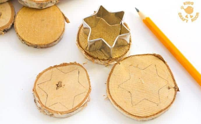 Sparkly-Star-Wood-Slice-Ornaments-step-1