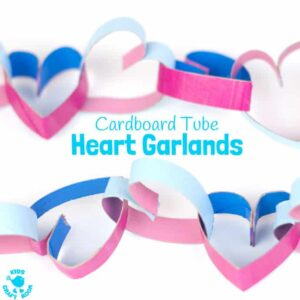 Pretty Cardboard Tube Heart Garlands