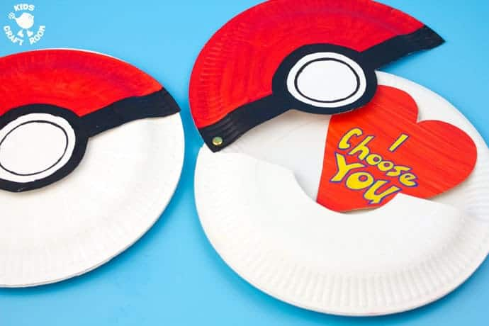 This Paper Plate Pokeball craft actually opens with storage space inside for figures or cards  sc 1 st  Kids Craft Room & Paper Plate Pokeball Craft - Kids Craft Room
