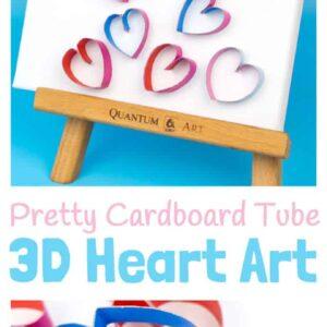 3D Cardboard Tube Heart Art