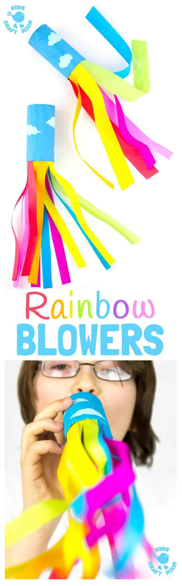 Uncategorized Kids Craft cardboard tube rainbow blowers craft kids room are a colourful and fun love blowing this