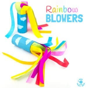 Cardboard Tube Rainbow Blowers – Rainbow Craft